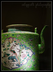 Peranakan Museum: nyonya porcelain - green teapot (eatzycath) Tags: teapot porcelain 105mmf28dmicro peranakanmuseum nikond700