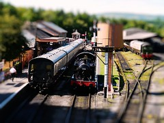 Model Railway ? (rashbre) Tags: train bokeh experiment railway saturation prairie gwr buckfastleigh sidings 262t 5526 4575class 30mm3cm