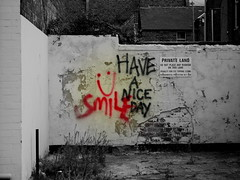 Have A Nice Day (KJGarbutt) Tags: street city art sign wall photography nice day grafitti random sony tag misc cybershot have kurtis miscellaneous sonycybershot oddsandends bitsandbobs garbutt a kjgarbutt kurtisgarbutt kurtisjgarbutt kjgarbuttphotography