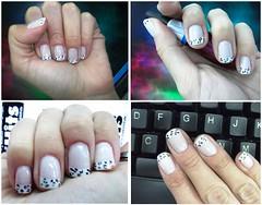 Francesinha (Mi Colors) Tags: white art fashion branco french design paint nail moda colored patch pintar unha colorido adesivo desenhar francesinha unhaarte