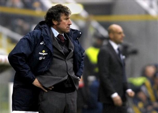 Alberto Malesani durante una gara del campionato di Serie A