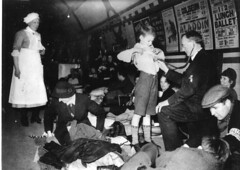 Piccadilly Underground station during the Blitz (British Red Cross.) Tags: wwii worldwarii blitz redcross
