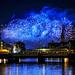 Blue fireworks...