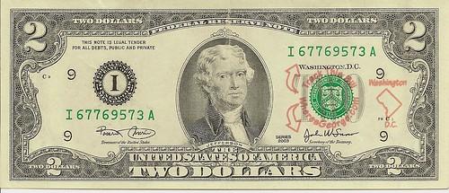 Where's George $2