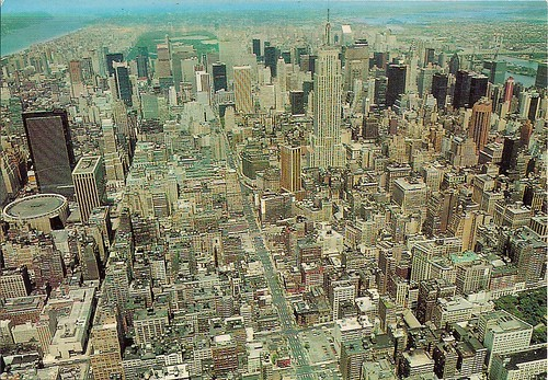 Manhattan, Ariel View (Postcard)