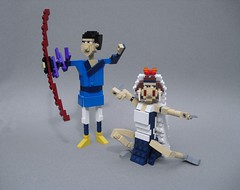 Princess Mononoke (Ashitaka and San) (Ochre Jelly) Tags: anime japan san lego princess manga miyazaki ghibli ashitaka mononoke     brickcon miyazakitopia