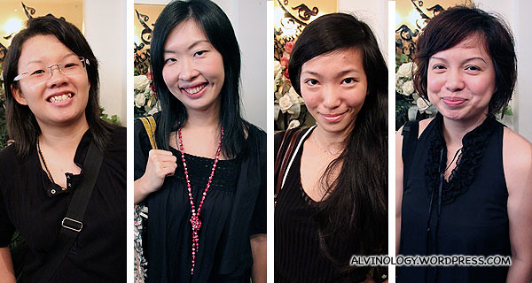The four bloggers before their make over