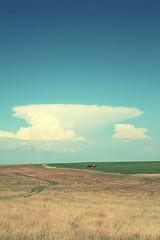 trac500 (hg-alex) Tags: blue sky cloud tractor field machine horisont canon450d