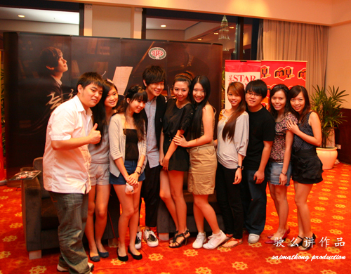 Bloggers with JJ Lin and Berjaya Times Square