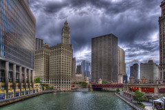 Chicago River (Thad Roan - Bridgepix) Tags: bridge chicago building river michiganavenue wrigley