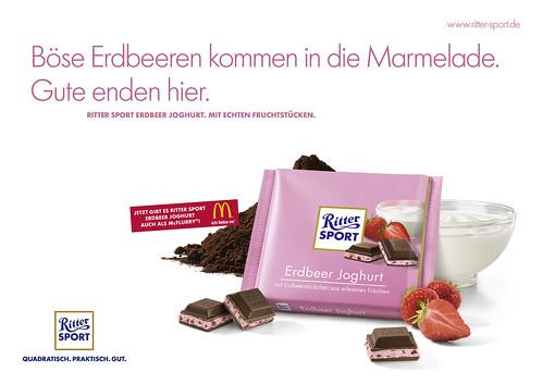 Plakat RITTER SPORT Erdbeer Joghurt - Querformat
