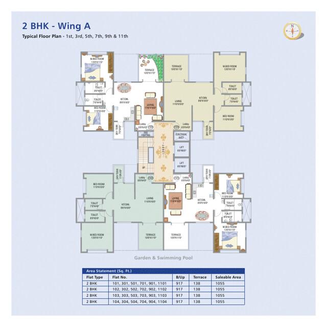 Balaji-Generosia Baner A building Odd Floors Plan