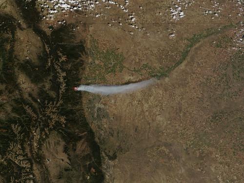Four Mile Canyon Fire near Boulder, Colorado