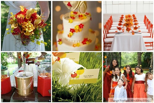 Spring Wedding Color Palette: Orange, Red and Yellow | Things ...