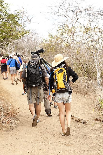 hiking on Floreana Island