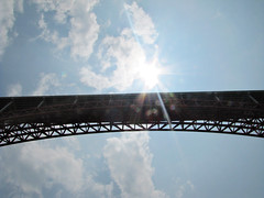 God's Highway (Gabrielle Mass) Tags: china bridge sun river three sunburst gorges lesser sunflare yantze