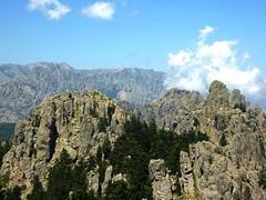 Sommet de Punta di Quercitella : vue vers le N et Bavella
