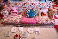 afternoon tea (sevenworlds16) Tags: sanfrancisco pink house flower cute square afternoon tea crown british crumpet ghirardelli parlor crownandcrumpet