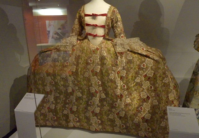 Woven silk court dress  1760s  Ridiculous Tilly and the Buttons  Bath Fashion Museum. Bath Fashion Museum Gift Shop. Home Design Ideas