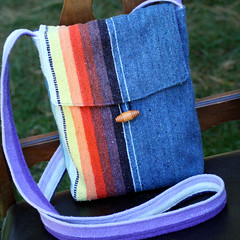 Recycled Rainbow Project Bag