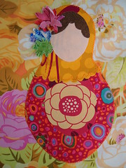 Matroyshka Doll Mini Quilt (ashleyboccuti) Tags: doll quilt sewing fabric quilting matroyshka miniquilt babushkadoll