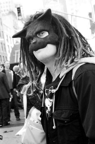 Cat Mask and Dreads