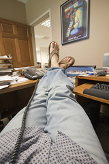 Office life (BlackburnPhoto) Tags: door feet work computer poster relax office keyboard toes phone desk jeans sandels