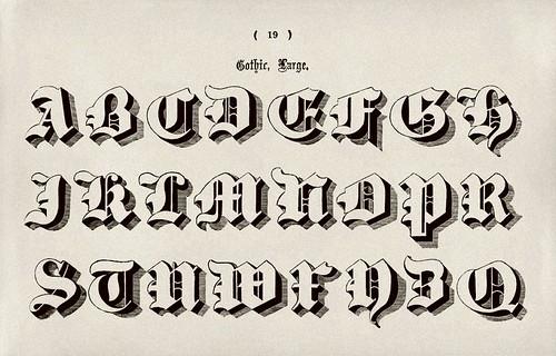 007-Alfabeto mayusculas gotico-Examples of Modern Alphabets… 1913- Freeman Delamotte