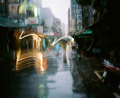 Rain (Shanghai Sky) Tags: color film rain ditch taiwan taipei mamiya7ii keep2 ditch2 ditch3 ditch6 ditch8 ditch9 ditch10 ditch4 ditch5 ditch7 keepzovo