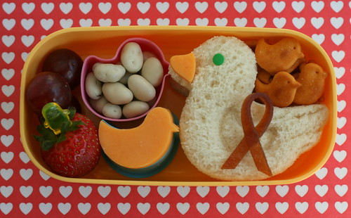 Chemo Duck ribbon bento