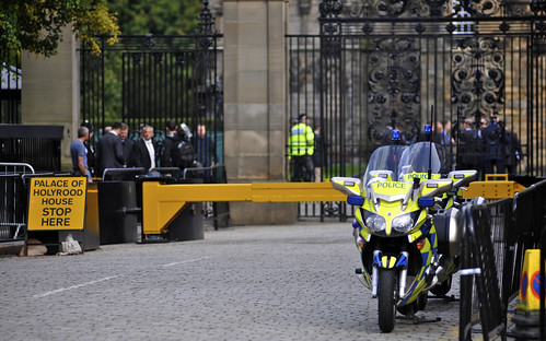 Police Bikes Outside Palace of Holyrood