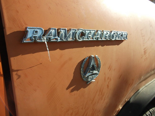 Dodge Ramcharger Interior. Dodge Ram Charger badge