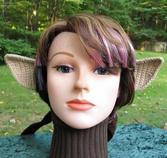 Half-Elf Costume Ears on a Brown Headband
