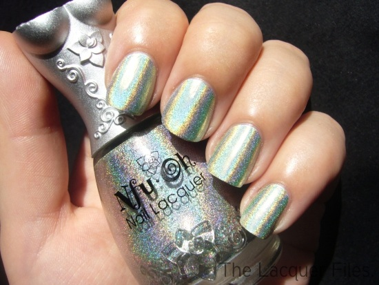 Nfu.Oh #66 Green Holographic Nail Polish