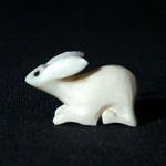 """<b>Rabbit</b><br/> Unknown, Eskimo American (ivory, ca. 1975) LFAC#2008:01:12<a href=""""http://farm5.static.flickr.com/4132/4996388151_b2760c2f67_o.jpg"""" title=""""High res"""">∝</a>"""