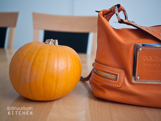 sugar pumpkin with bag