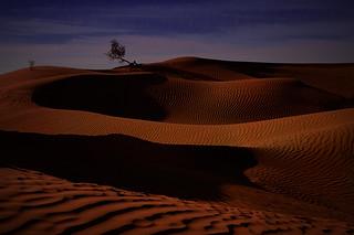 Full moon on Sahara