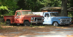 Ford F100s (NCnick) Tags: ford truck nc side north pickup f100 step flare carolina 1978 1977 1979 1973