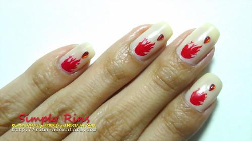 Nail Art Vampire Diaries 01