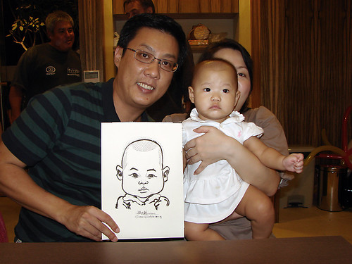 Caricature live sketching for birthday party 11092010 - 15