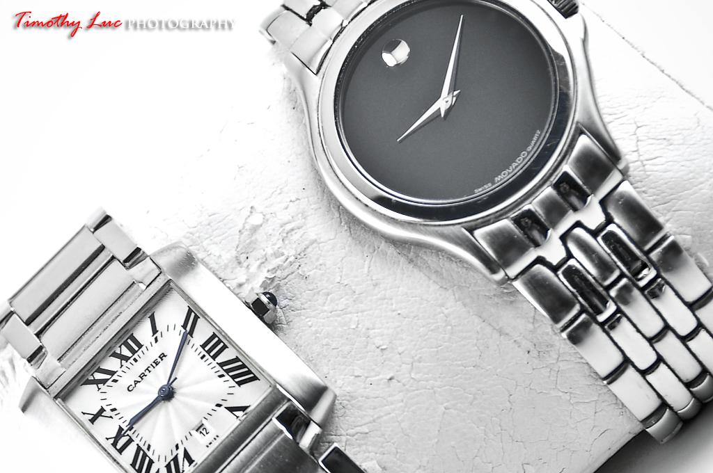 Cartier Tank Francaise & Movado