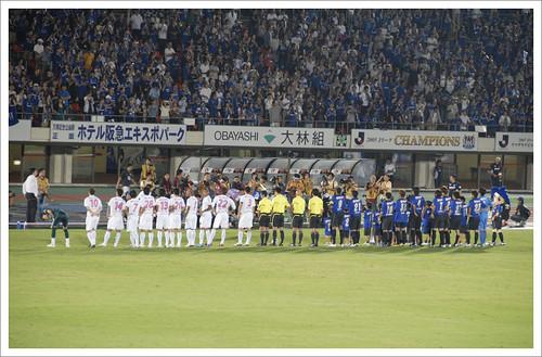試合前の整列@ガンバ大阪 VS セレッソ大阪