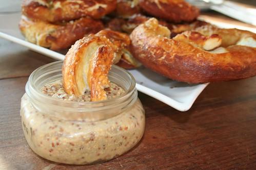 Homemade Pretzels and Mustard