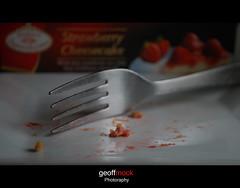 "Too ""Luscious"" (Geoff Mock) Tags: macro nikon plate fork cheesecake luscious d60 macromondays geoffmock"