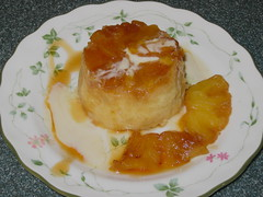 Caramelized Pineapple Pudding Cakes
