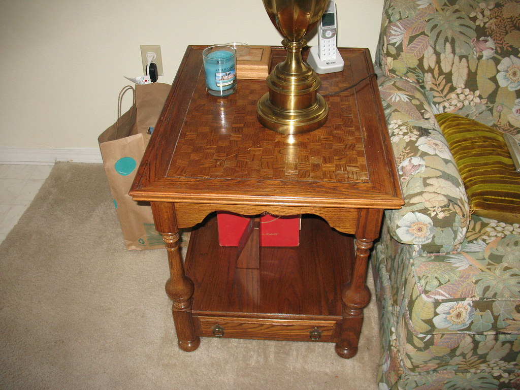 Rectangular Oak end table