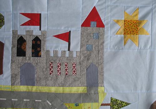 castle and sun
