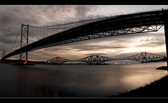 Forth Bridges (Harry Maguire) Tags: road morning river scotland edinburgh bridges rail forth