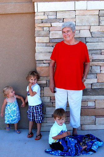Granny Oma and the babies