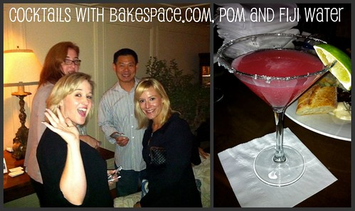 Cocktails with Bakespace.com, POM and Fiji Water